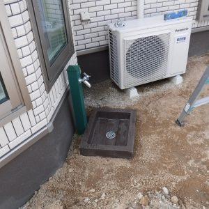 オシャレな立水栓に