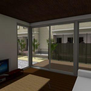 外構計画は、室内からの眺めが重要