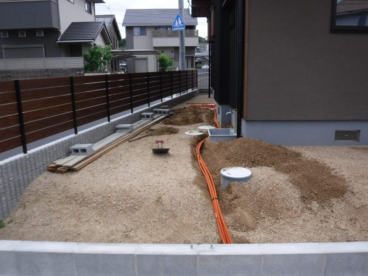 ジャバラ管埋設